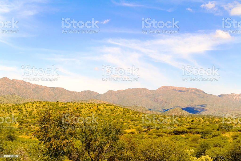 Landscape near Windhoek in Namibia stock photo