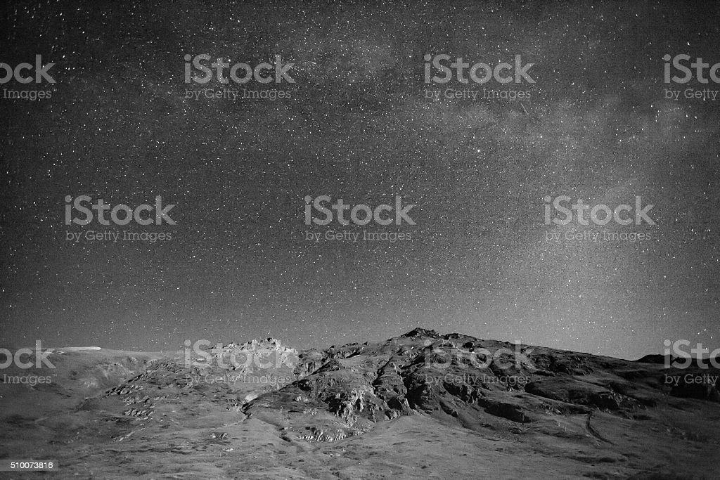 landscape night mountain stock photo