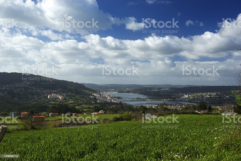 Landscape of a fisherman?s village stock photo
