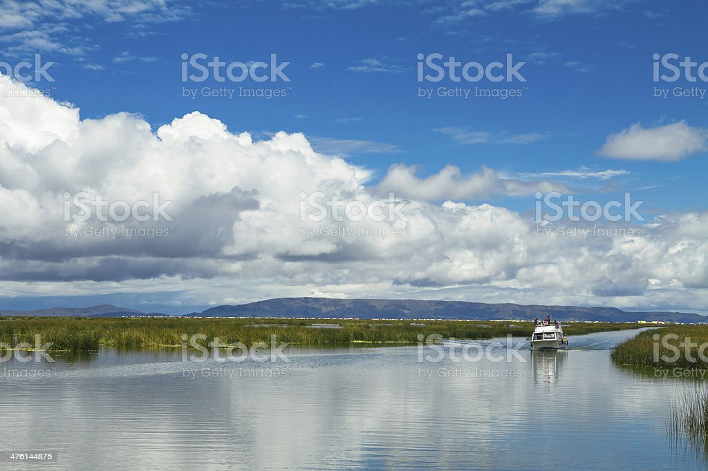Landscape of a lake adn skyes royalty-free stock photo
