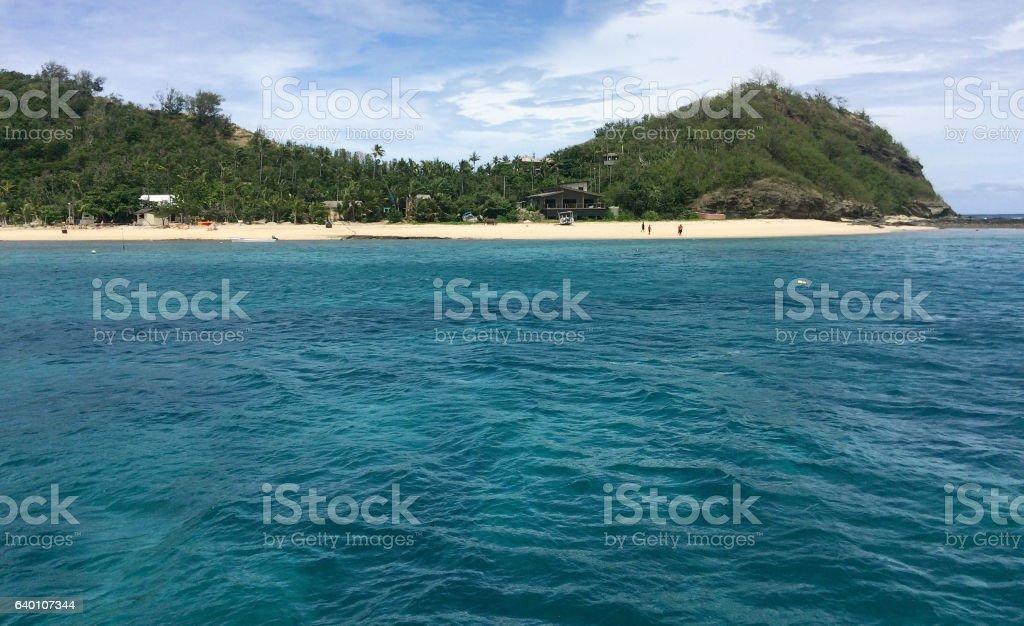 Landscape of a Mamanuca islands Fiji stock photo