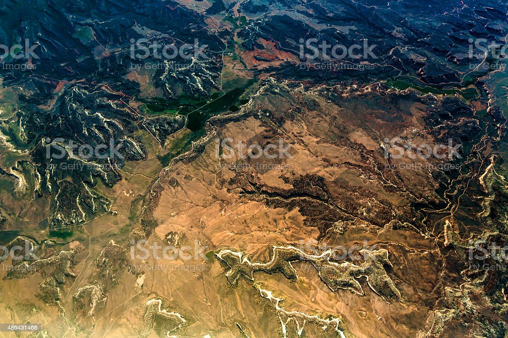 Landscape of Another Planet stock photo