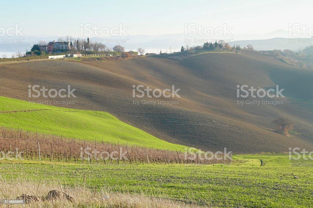 Landscape of Appennino Romagnolo Italy stock photo