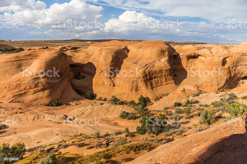 Landscape of Arches National Park, USA stock photo