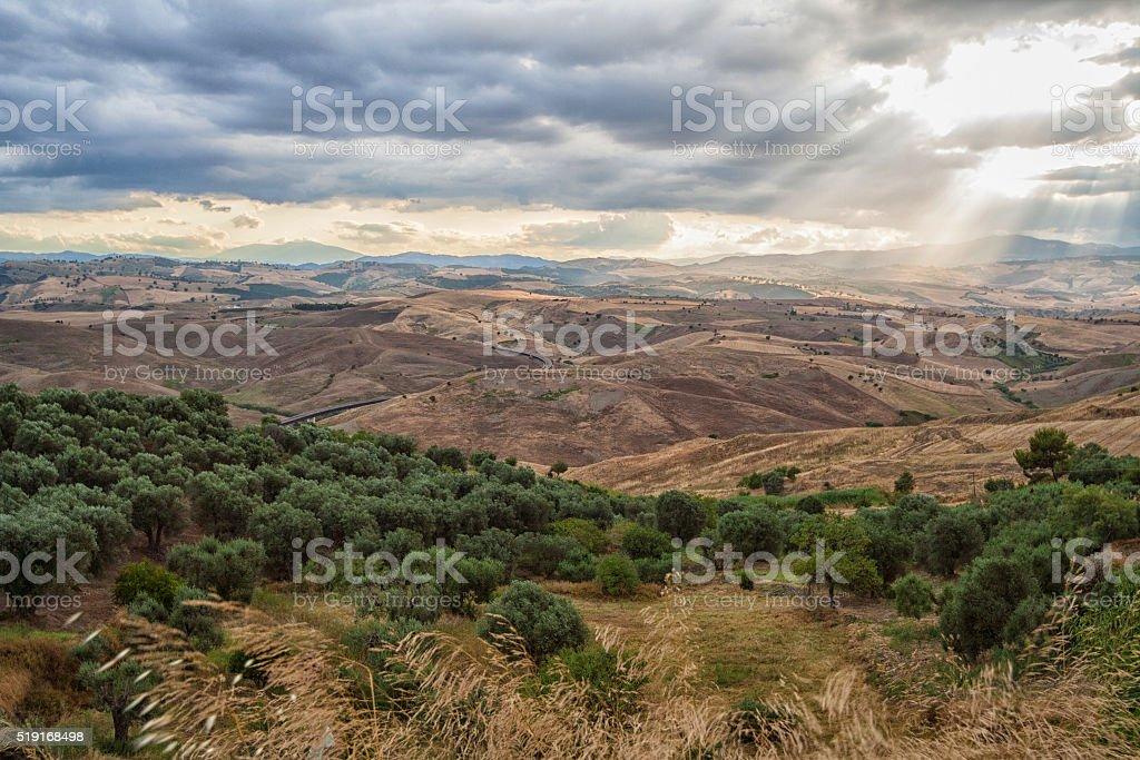 Landscape of Basilicata, Italy stock photo