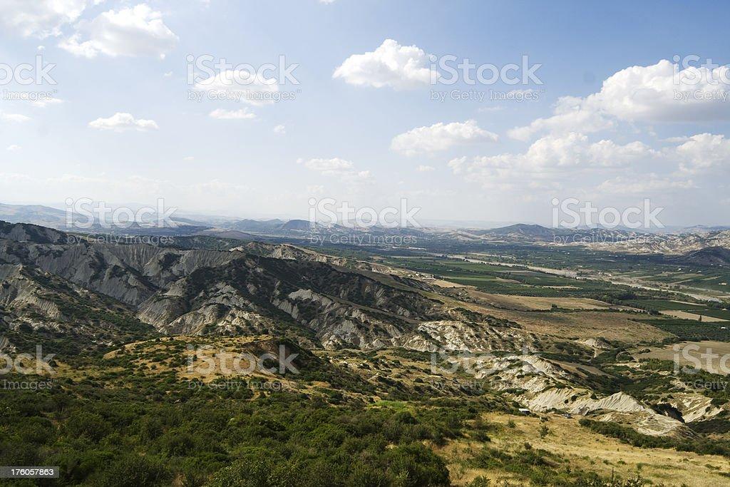Landscape of Basilicata stock photo