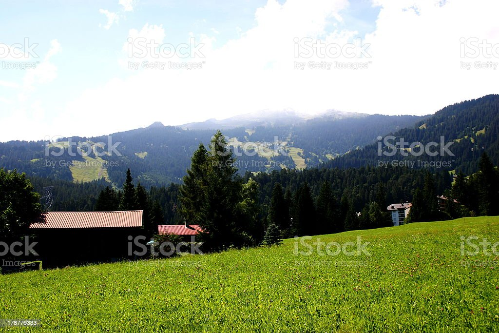 Landscape of Bavarian Alps,Southeat Germany, royalty-free stock photo