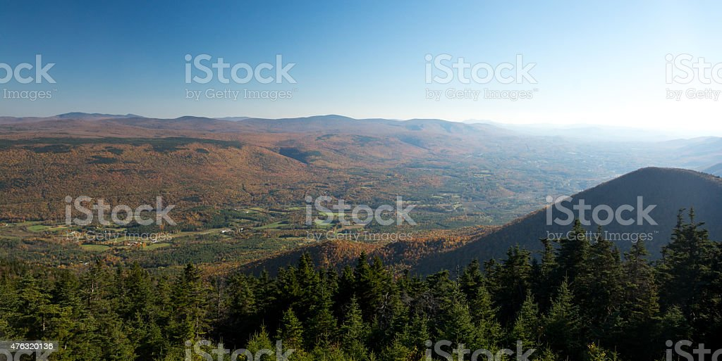 Landscape of Berkshires stock photo
