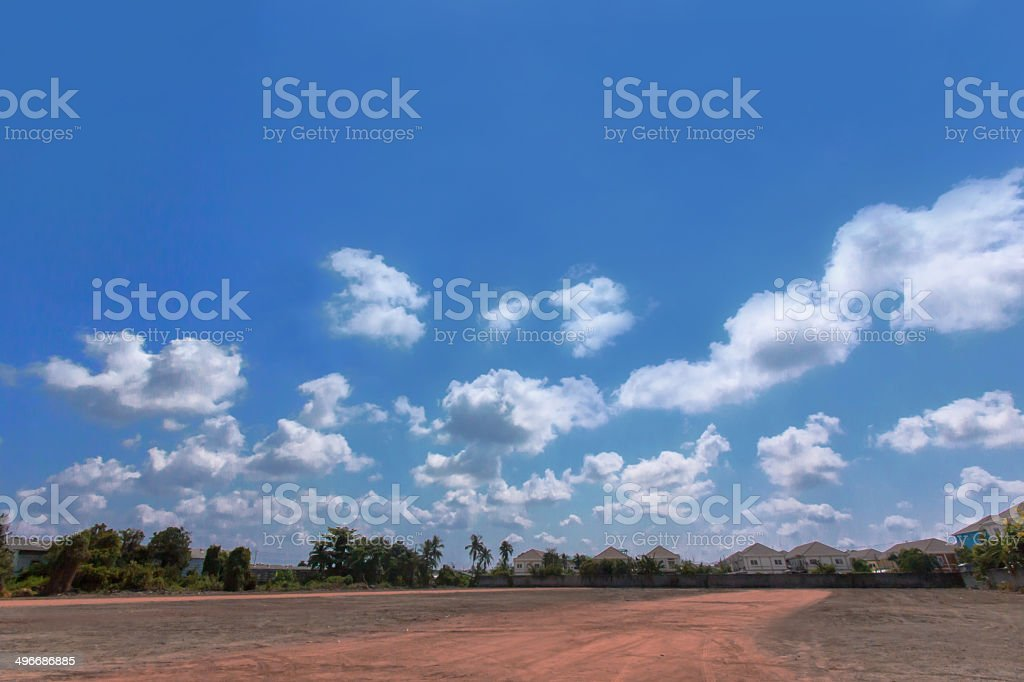 landscape of blue sky royalty-free stock photo