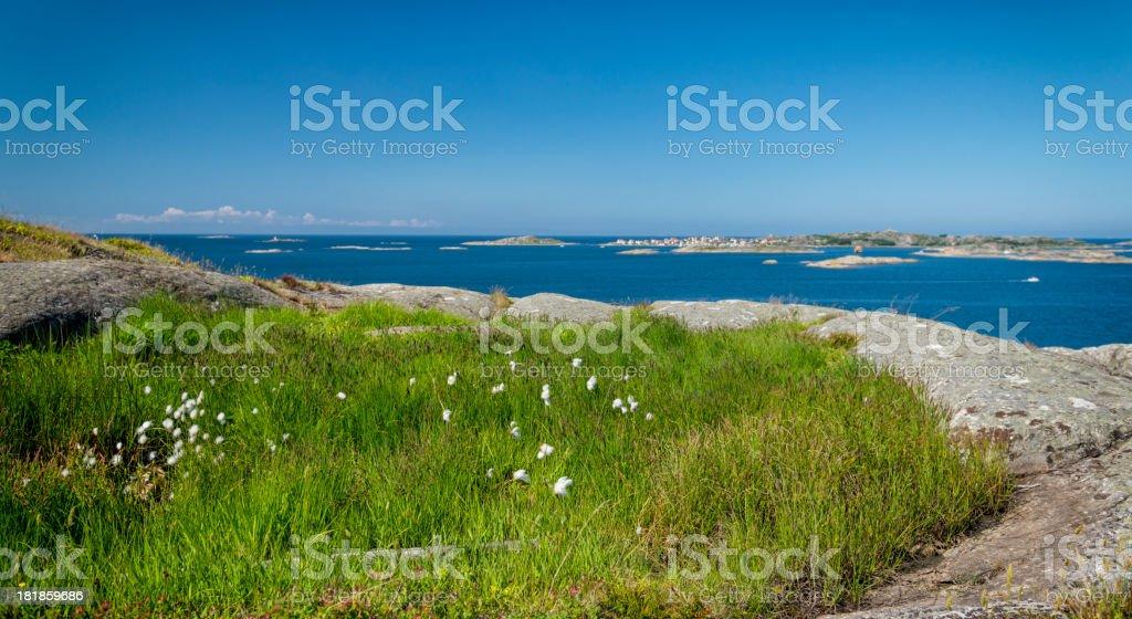 Landscape of Bohuslan Sweden stock photo