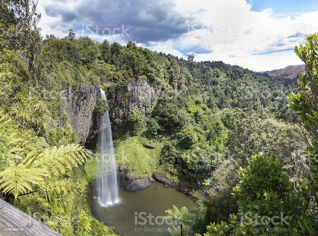 Landscape of bridal veil waterfall stock photo