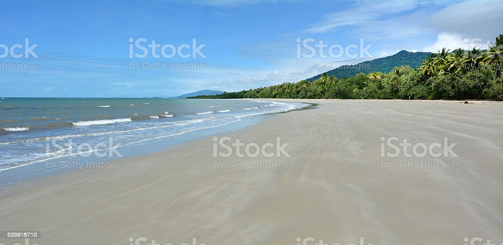 Landscape of Cape Tribulation in Daintree National Park Queensla stock photo