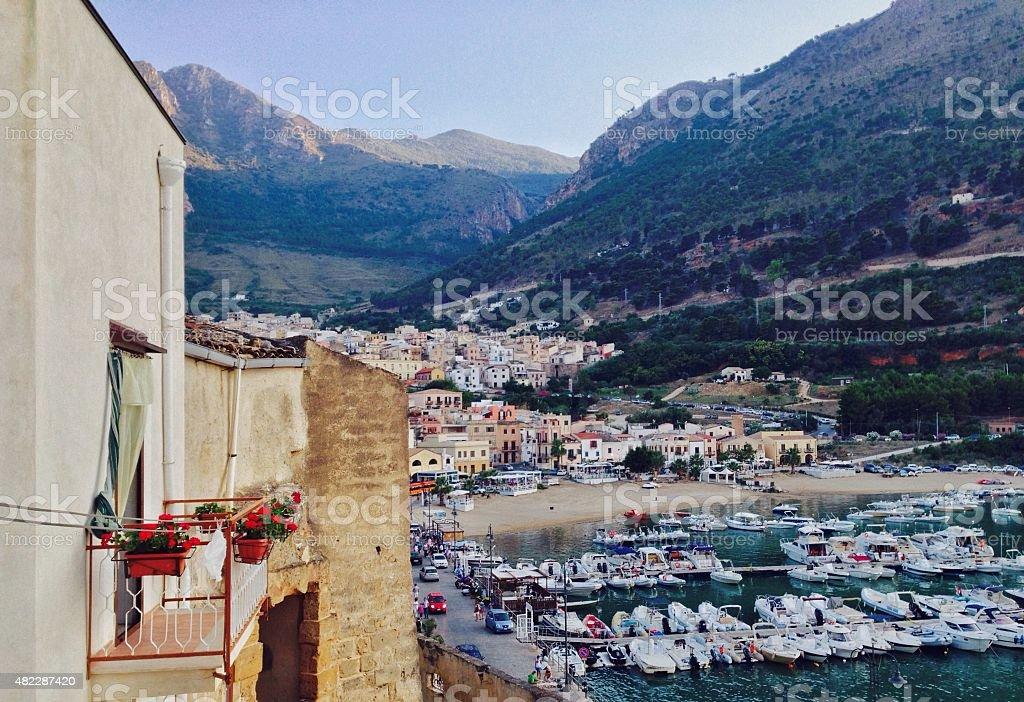 Landscape of Castellammare del Golfo stock photo