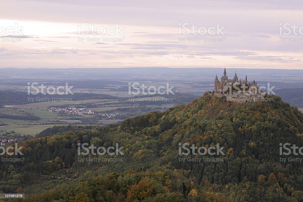 Landscape of Castle Hohenzollern Falltime stock photo