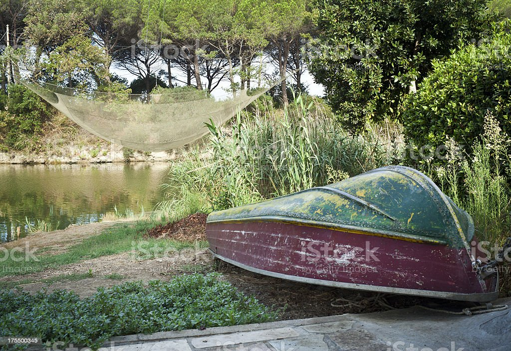 Landscape Of Cecina River, Tuscany Italy royalty-free stock photo