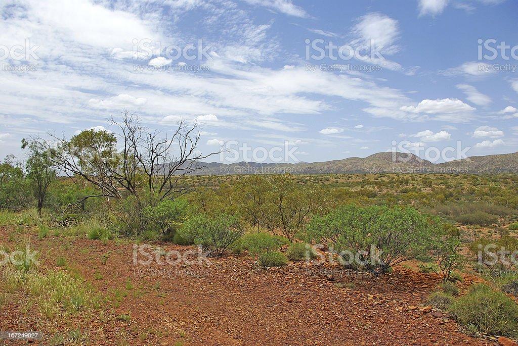 Landscape of Central Australia stock photo