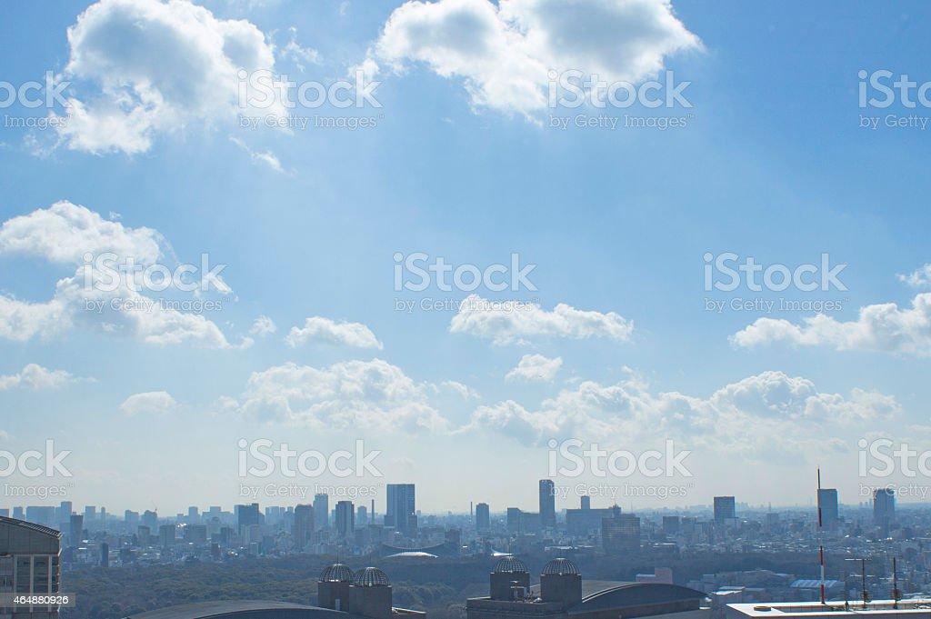 Landscape of city stock photo