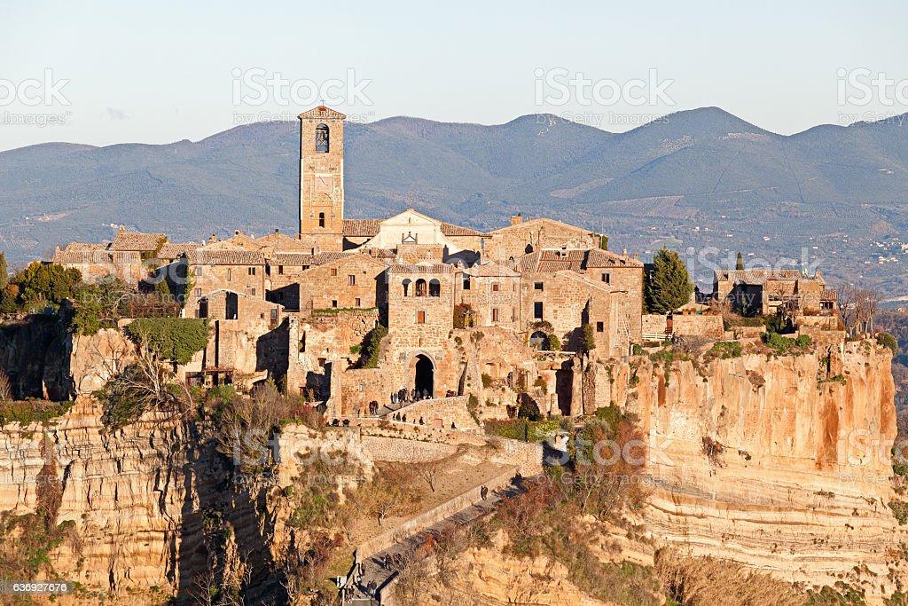 Landscape of Civita di Bagnoregio (Italy) stock photo