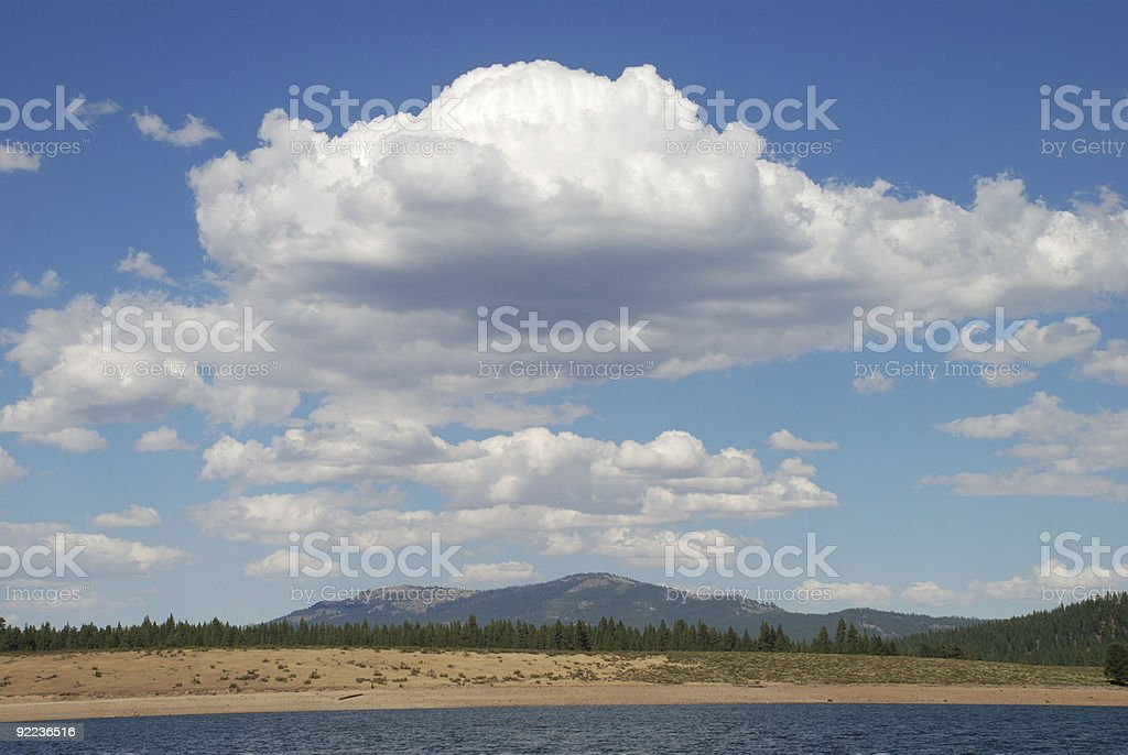 Landscape of clouds royalty-free stock photo