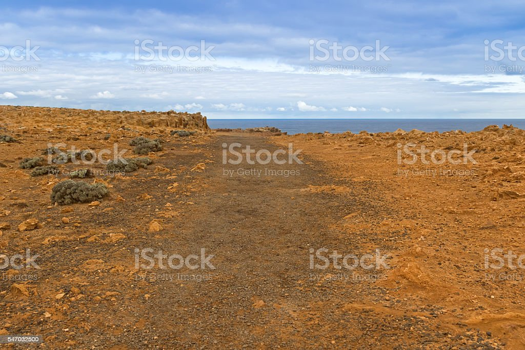 Landscape of coastal cliff at Petrified Forest Walk, Cape Bridgewater stock photo