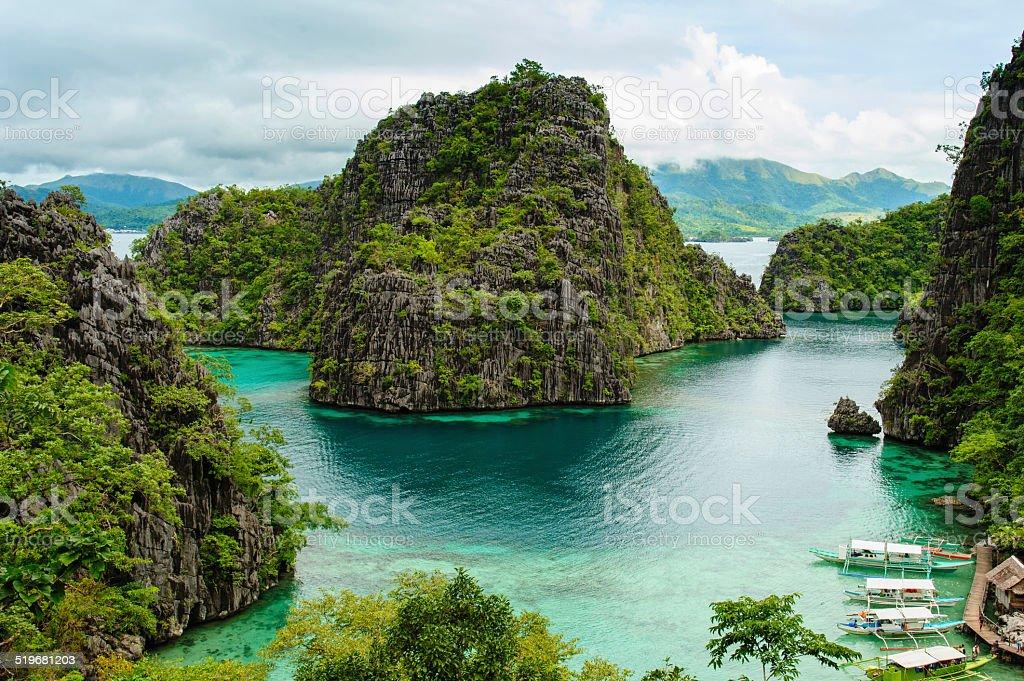 landscape of Coron stock photo