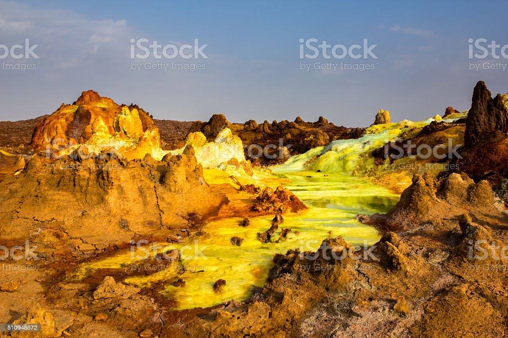 Landscape of Danakil depression, Ethiopia stock photo
