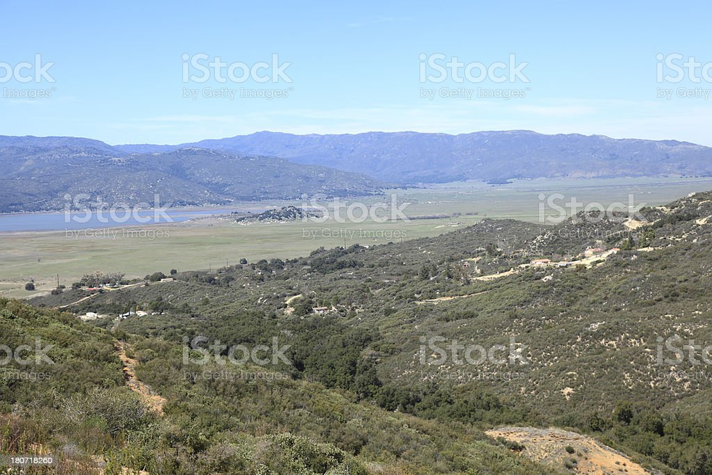 Landscape Of Eastern San Diego County stock photo
