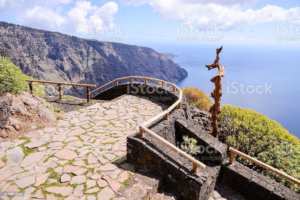 Landscape Of El Hierro Canary Island stock photo