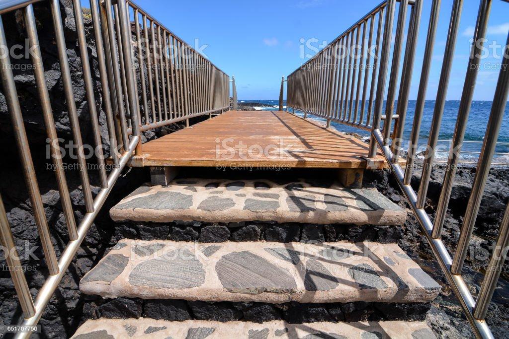 Landscape Of El Hierro Canary Island Spain stock photo
