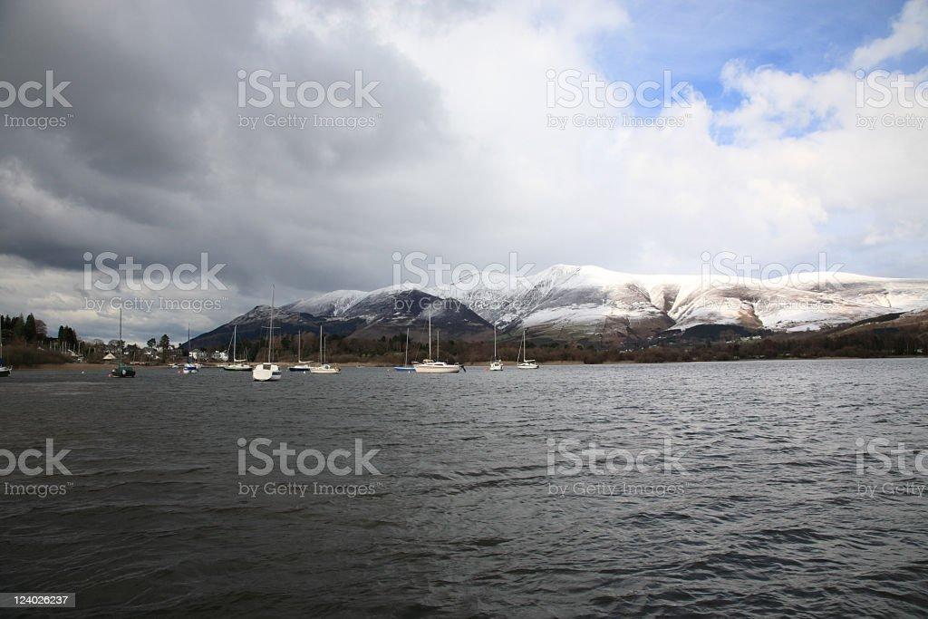 Landscape of English Lake District stock photo