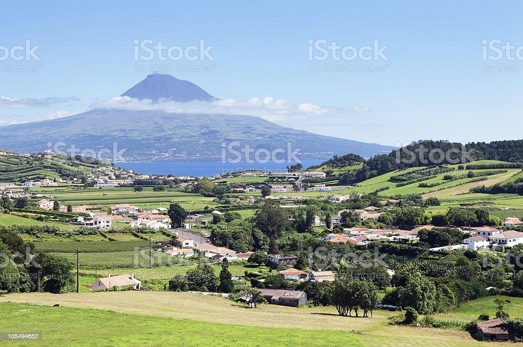 Landscape of Faial, Azores stock photo