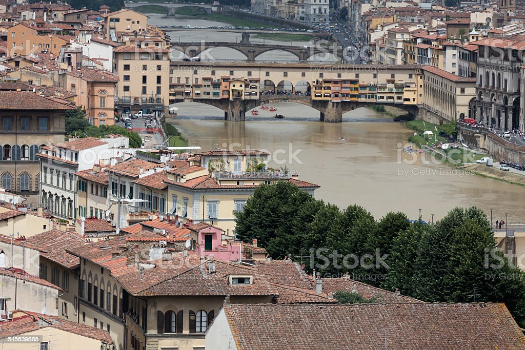 Landscape of Florence stock photo
