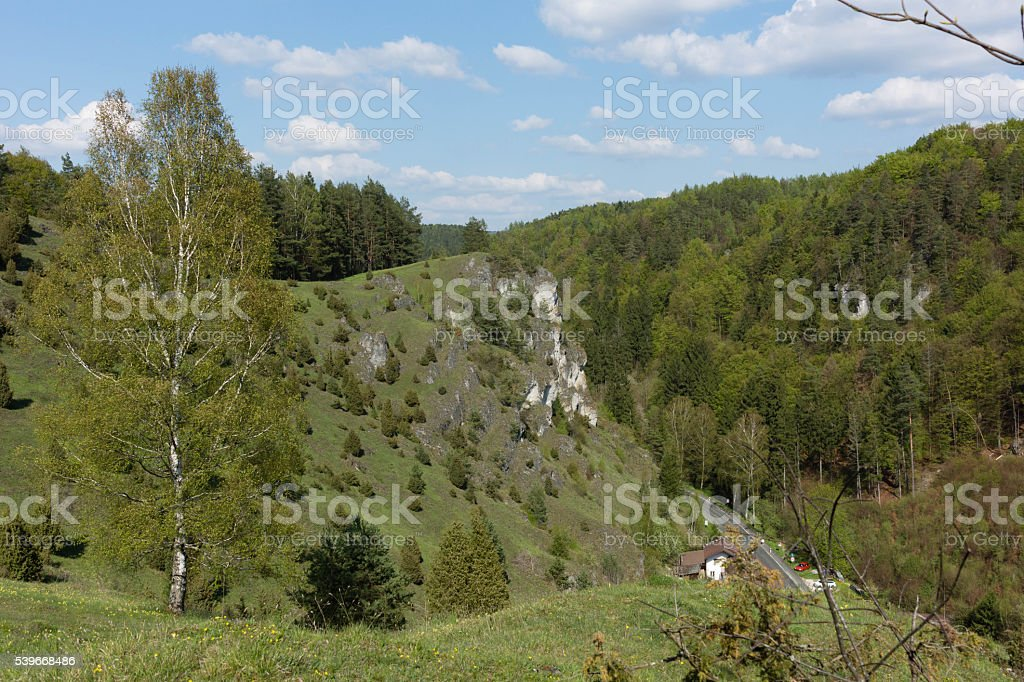Landscape of Franconian Switzerland stock photo