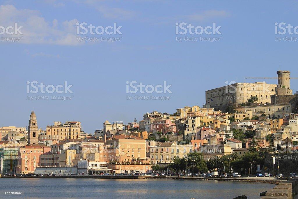 Landscape of Gaeta, Italy royalty-free stock photo