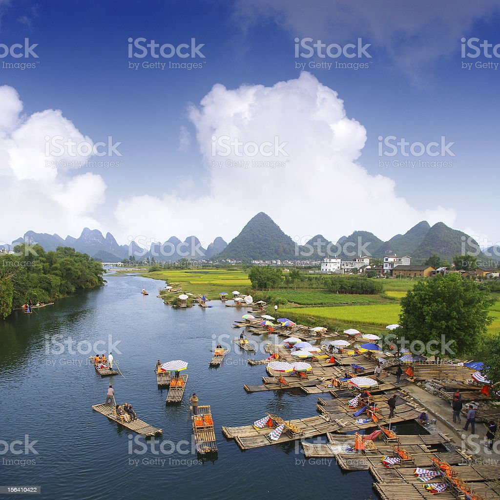 Landscape of Guilin, China stock photo