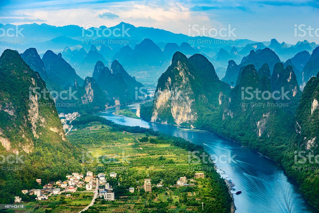 Landscape of Guilin stock photo