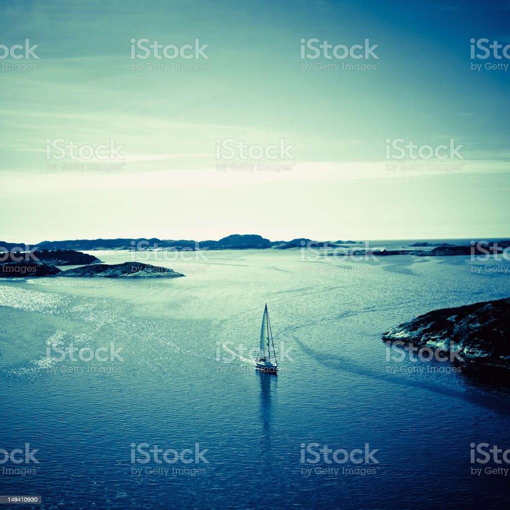 Landscape of Harbor in Fjell Norway royalty-free stock photo