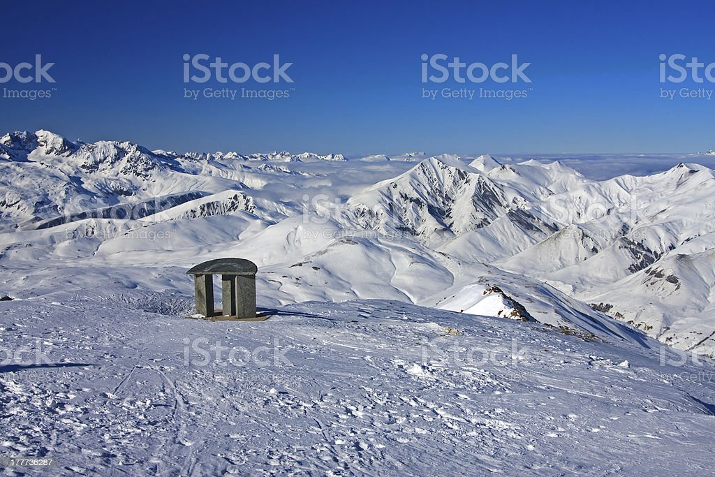 Landscape of High Alpes stock photo
