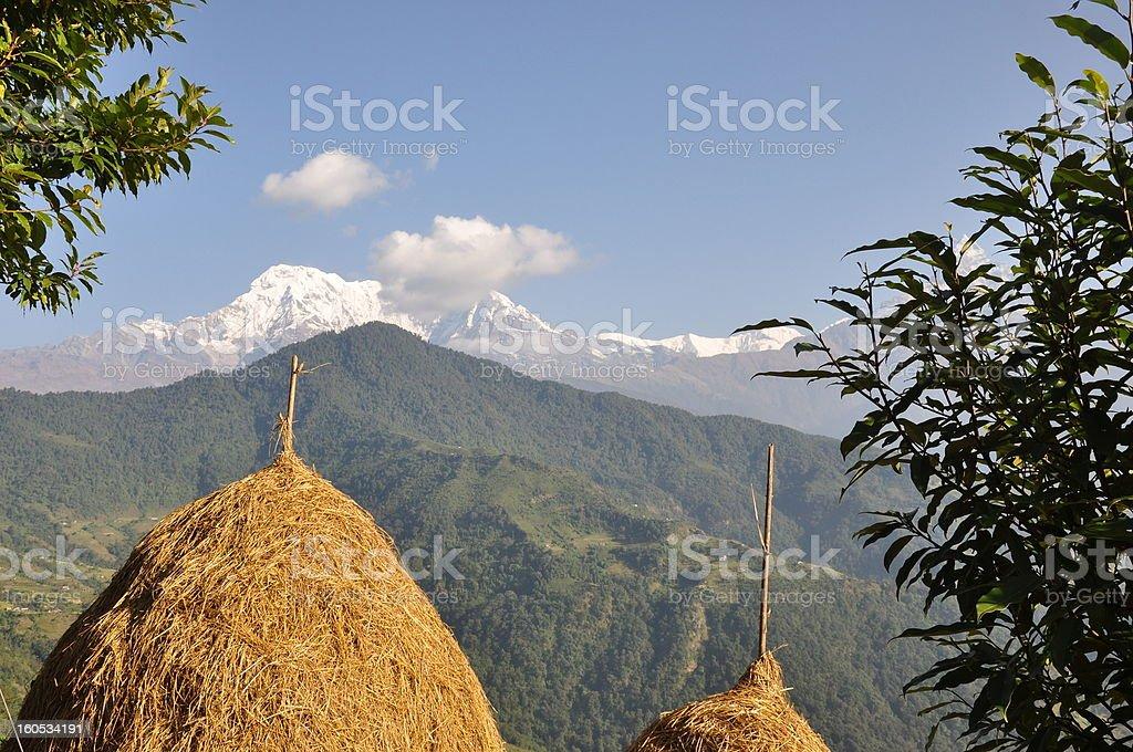 Landscape of Himalaya in Nepal royalty-free stock photo