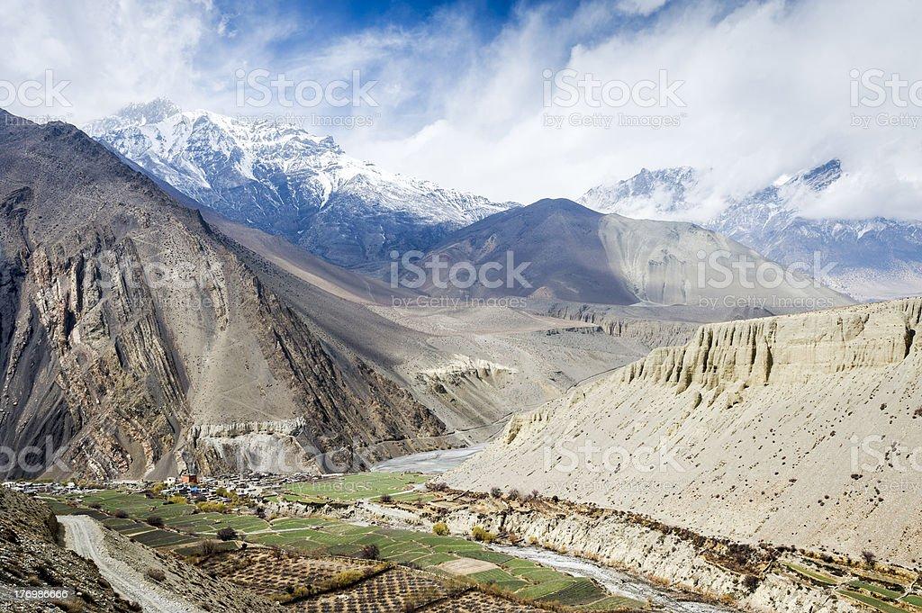 Landscape of Himalaya royalty-free stock photo