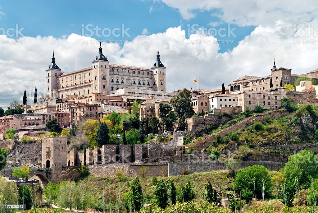 Landscape of historic buildings in Toledo,Spain stock photo
