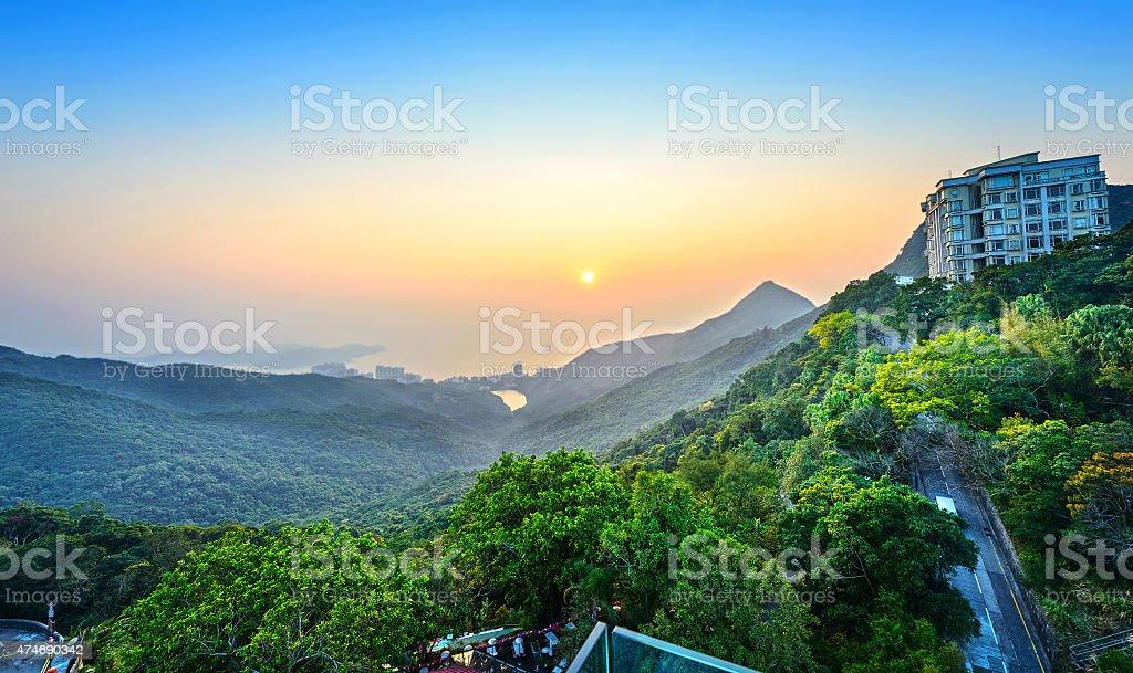 Landscape of Hong Kong stock photo