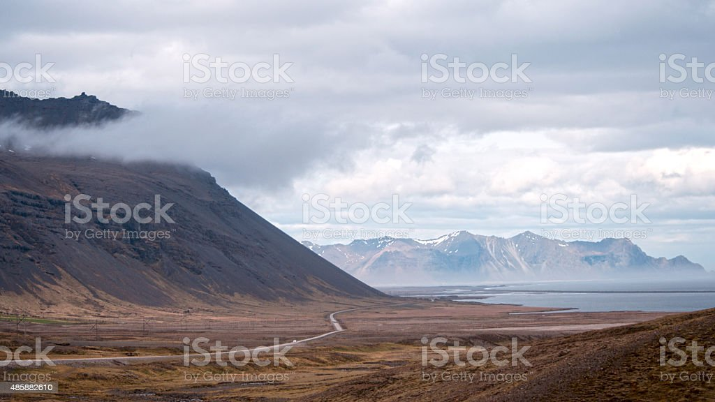 Landscape of Iceland near Svinafell stock photo