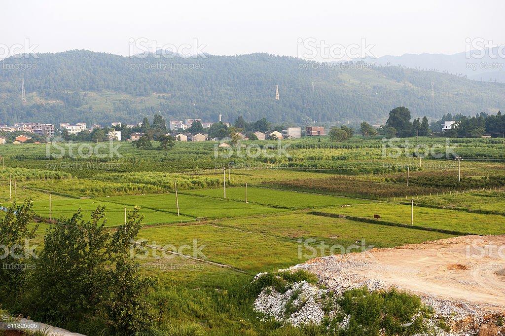 landscape of Jinggang mountain stock photo