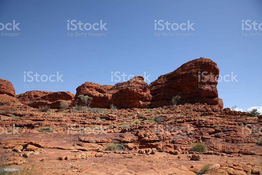 Landscape of kings canyon royalty-free stock photo