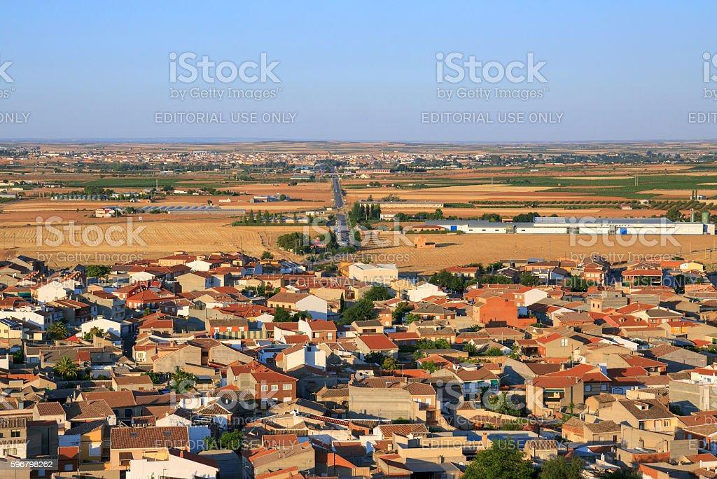 Landscape of La Mancha, Spain stock photo