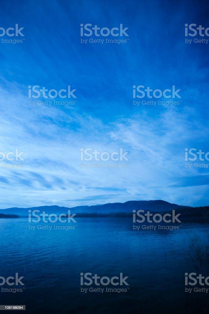 Landscape of Lake at Sunrise royalty-free stock photo