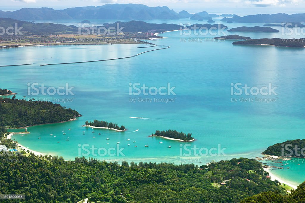 Landscape of Langkawi Island stock photo