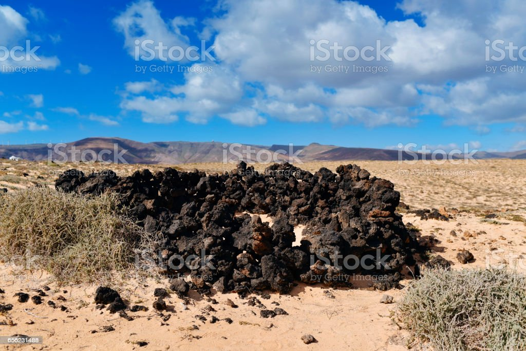 landscape of Lanzarote, Canary Islands, Spain stock photo