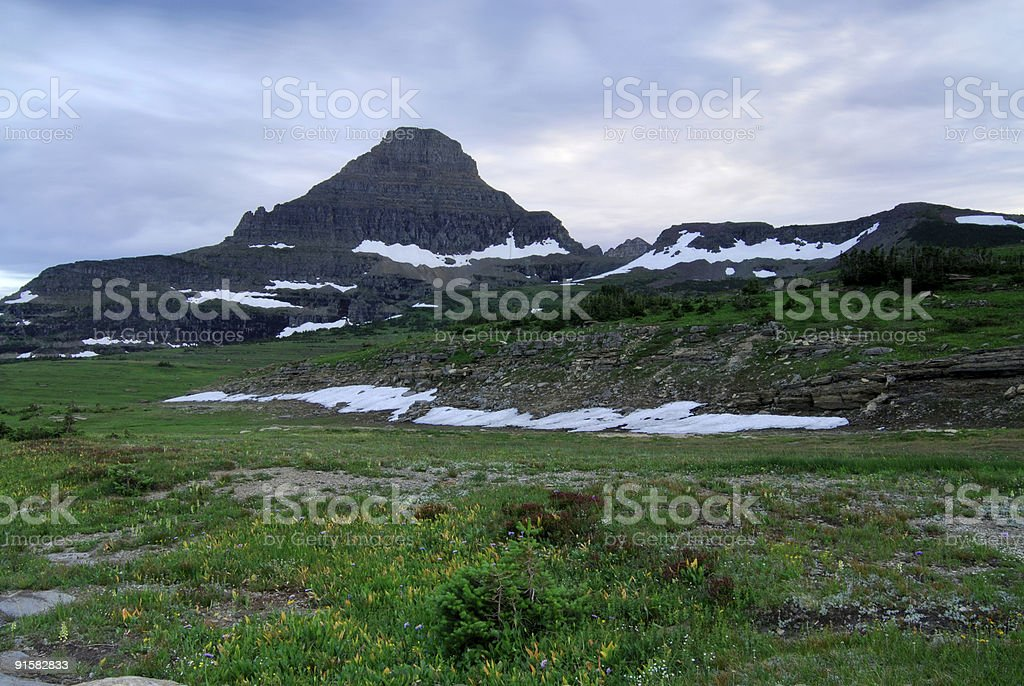Landscape of Logan Pass royalty-free stock photo
